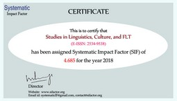 Systematic Impact Factor (SIF) of 4.685 for the year 2018